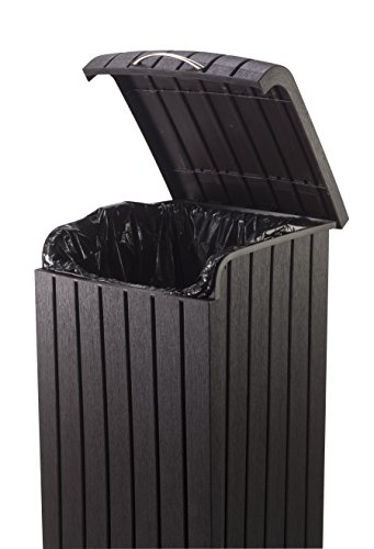 Keter Copenhagen 30 Gallon Resin Wood Style Outdoor Trash