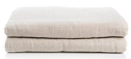 Cleaning Solutions 79108 2 Pack Cotton Canvas Drop Cloth 6' x 9' All Purpose Use, Floor Protection, Patio Cover, Curtains, Furniture Upholstery by Cleaning Solutions