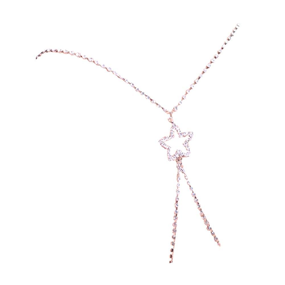 TININNA Tirantes para sujetador, diseño cruzado en la espalda de tira de cristales en forma de diamante Para Moda Elegante Mujer Novia.