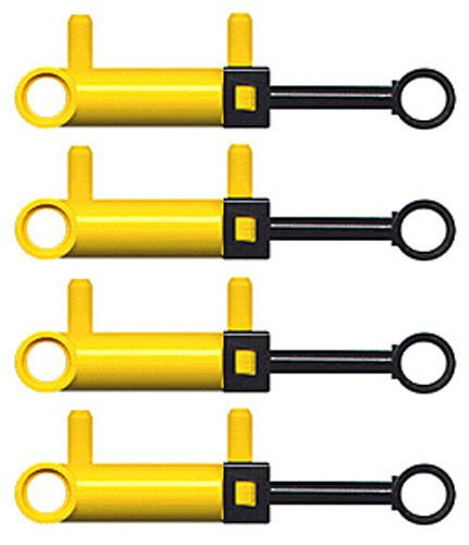 LEGO Technic 4 pcs NEW YELLOW MINI PNEUMATIC PISTON CYLINDERS Air pressure Pump pack lot set switch hose small little robot robotics