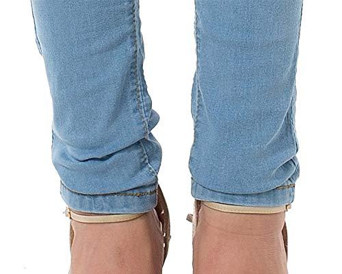 Chiaro Zhuikuna Denim Donna Jeans Pantaloni Washed Elastico Skinny Azzurro Slim Matita a7vTZaqr