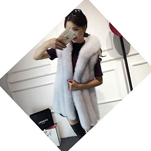 Outerwear Battercake Fourrure À Dame Épaisseur Oversize Hiver Manteau De Laineux Gilet Casual Longue Sleeveless Art Elégante Femme Fashion Blanc Warm Capuchon rqw1rUxE