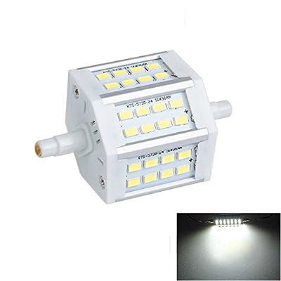 CTKcom R7S 7W J78mm LED Bulbs(2 Pack) - J78mm Double Ended R7S SMD5730 LED Halogen Lamp Cool White 6000K,Energy-Saving R7S Flood Lights Quartz Tube Lamps 70W Replacement Halogen Bulb,AC85V-265V,2 Pack
