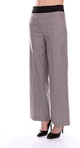 Boutique Moschino Luxury Fashion Femme A03135821BLCKWHITEBORDEAU Noir Polyester Pantalon   Saison Outlet