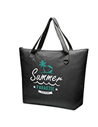 Mesh Beach Bags and Totes,Myhozee Sand Bags,Carabiner, Large Beach Bag XXL Large Travel Toy Bags for Women Men