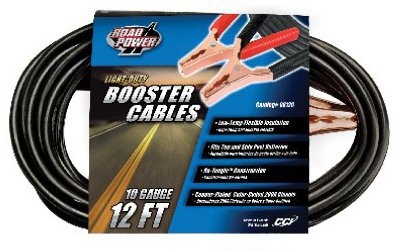 Coleman Cable 08120-88-08 12' 10 Gauge Booster Cable With 200 Amp Clamps ()