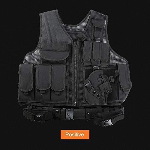 beautygoods Veste Tactique extérieure Costume d'armée de Campagne, Paintball Gaming Gilet Équipement Protecteur pour la… 3