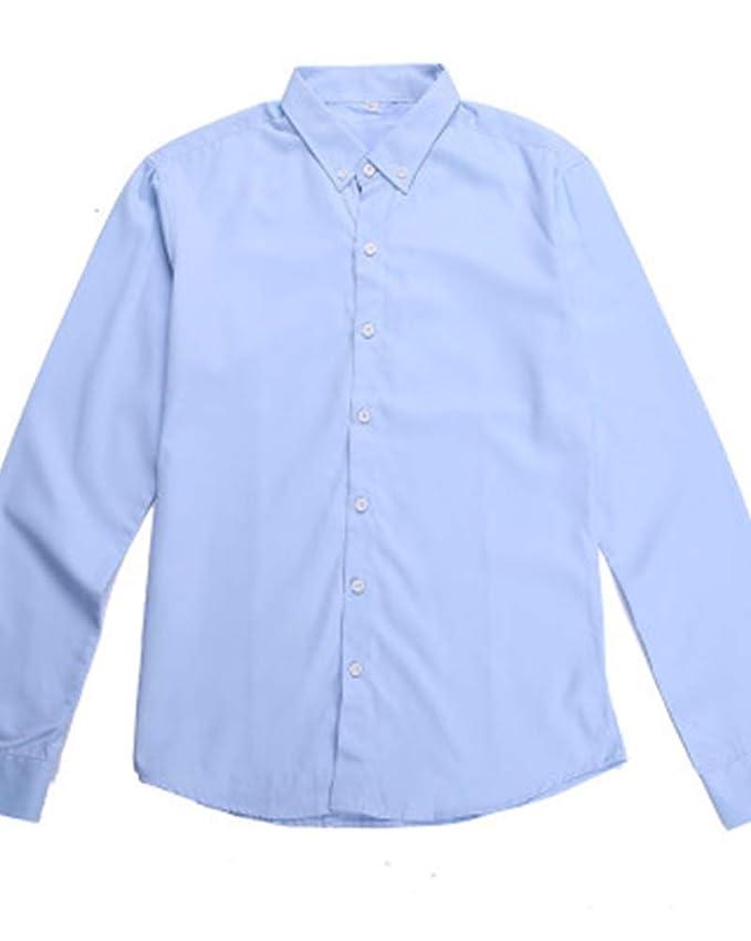 Camisa De Manga Larga Color Sólido Modelo La Solapa para Hombre ...