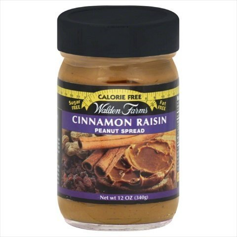 Walden Farms Peanut Spread, Cinnamon Raisin, 12 Oz, Pack Of 6 by Walden ()