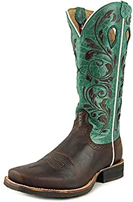 8d62d83e359 Twisted X Women's Ruff Stock Turquoise Embroidered Cowgirl Boot Square Toe