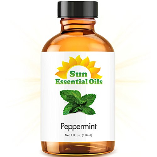 : Best Peppermint Oil (Large 4 Ounce) 100% Pure Peppermint Essential Oil (Mentha Piperita)