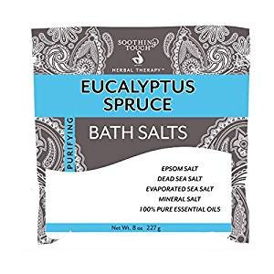 Soothing Touch Eucalyptus Spruce Bath Salt, 32 Ounce -- 3 per case. by Soothing Touch