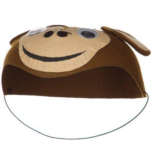 [Child Felt Monkey Hat - Brown] (Monkey Felt Hat)