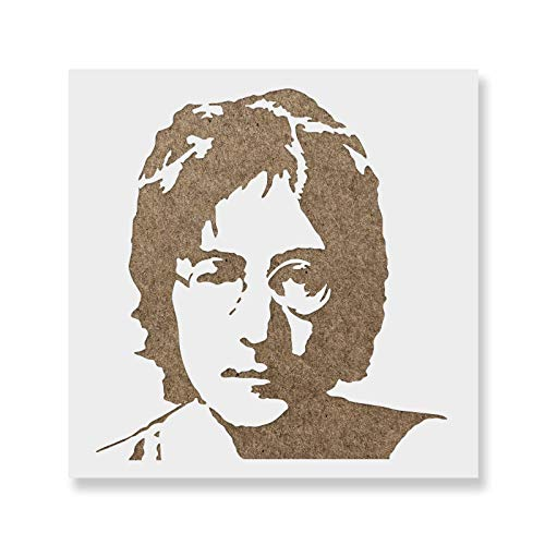 (John Lennon Stencil Template - Reusable Stencil with Multiple Sizes Available)