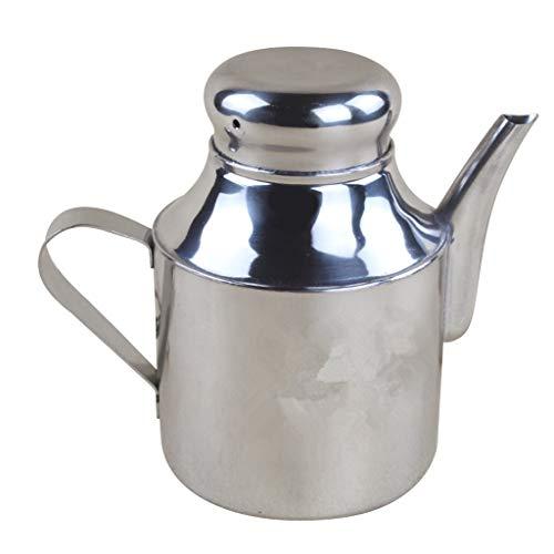 - Homyl Stainless Steel Oil Can Storage Olive Vinegar Pot Dispenser 24oz 32oz 48oz - 32OZ