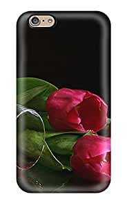 High Impact Dirt/shock Proof Case Cover For Iphone 6 (flowers And Red Wine) hjbrhga1544