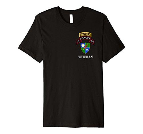 Army Ranger Shirt - 75th Ranger Shirt - Veteran Black 75th Ranger Regiment Patch