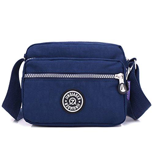 Bolsos Bolso para Azul Bolsos Viaje Deporte Casual Bolsas de Moda Escuela Ligero Outreo 1 Bolsas Bandolera Pequeña de de Impermeable Mujer PnxB6SqB4