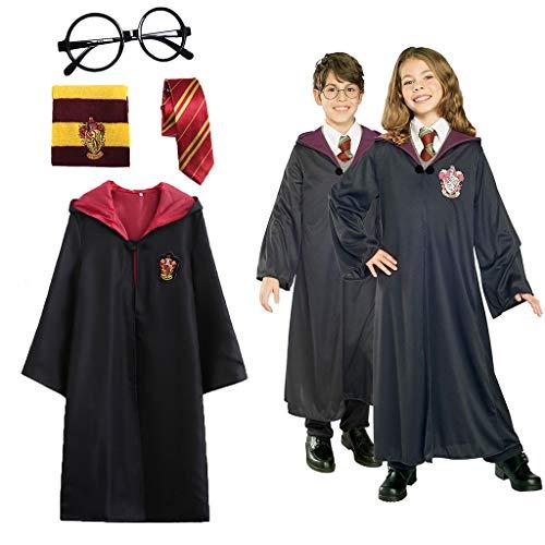 Comprar 4 Piezas Disfraz de Mago para niños Adultos, con Capa, Corbata, Montura de Gafas para la Fiesta de Mago Harry Potter - Envíos Baratos o Gratis