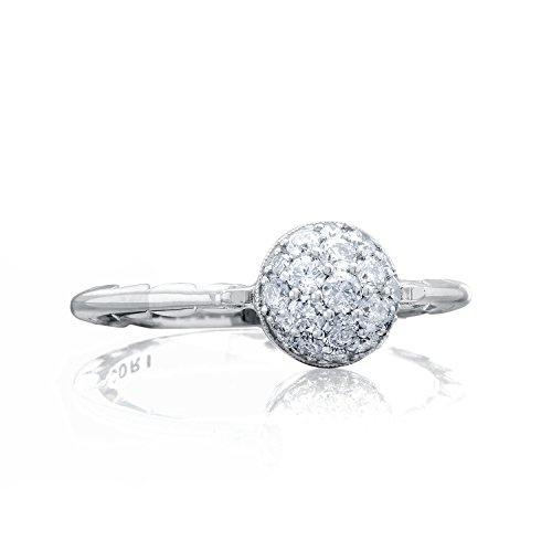 Tacori Brilliant Ring (Tacori SR189 Sonoma Mist Sterling Silver Diamond Pavé Ring (0.40 cttw, H-I Color, I2-I3 Clarity), Size 7)