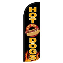 "NEOPlex ""Hot Dogs"" 12-foot WINDLESS Swooper Feather Flag (Flag Only)"