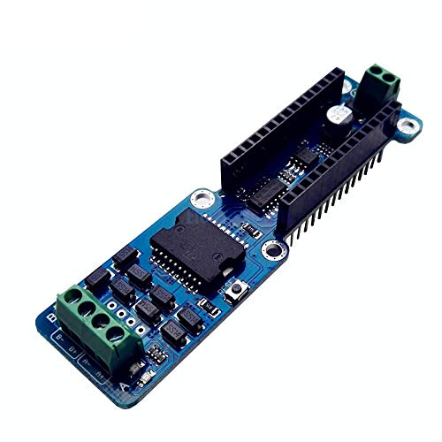 Nano-L298P 4A Dual Channel Full H-Bridge Motor Driver Shield Board 5-12V PWM Speed DC Stepper Driving Module for Arduino UNO R3 Phoncoo