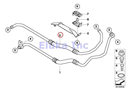 BMW Genuine Engine Oil Cooler Pipe Line - Outlet X5 4.4i X5 4.8is