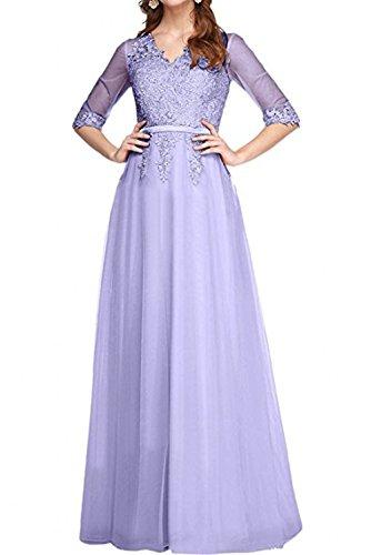 Spitze Pfirsisch Promkleider Braut Jugendweihe Partykleider Linie Kleider Ballkleider A Abendkleider Rock Prinzess mia Lilac Langes La nEgIqI