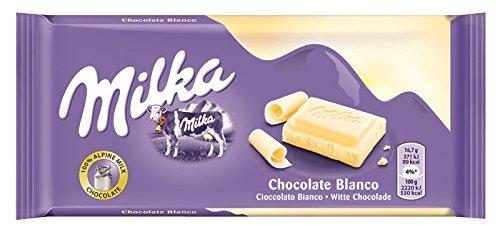 Milka - Tableta de chocolate blanco (paquete de 11 unidades)
