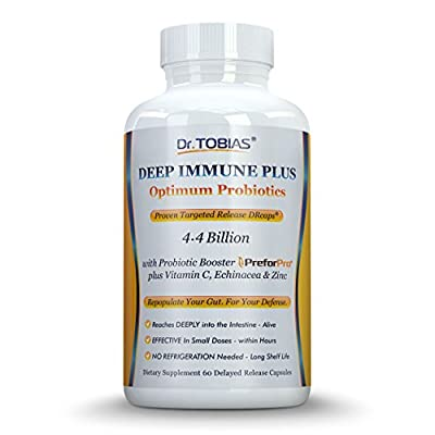 Optimum Probiotics plus Echinacea, Vitamin C & Zinc - Deep Immune System Support - With Patented Probiotic Booster - Effective in Small Doses Within Hours