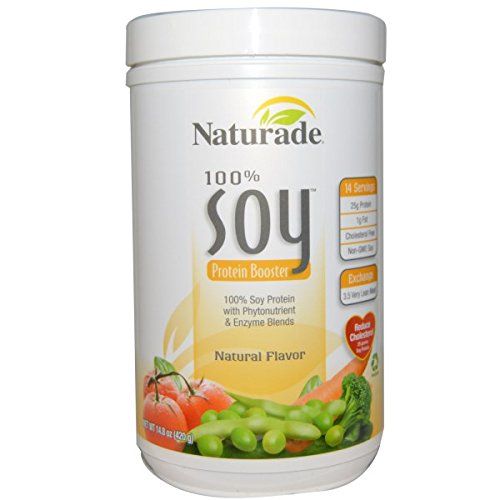 Naturade, 100% Soy Protein Booster, Natural Flavor, 14.8 oz (420 g)