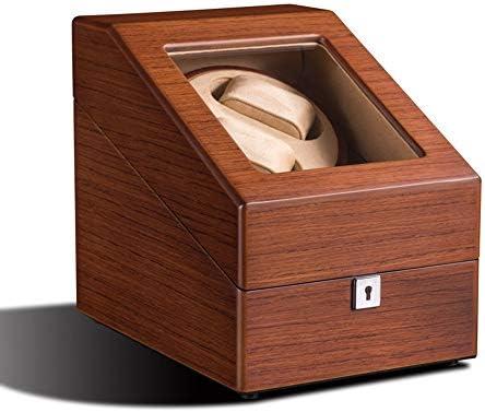 Watch Winder, può Contenere 2 + 3 Orologio in Legno Massello Opaco Box Guardare Laccato, Motore Rotativo silenziosità, 25 * 19 * 22cm Guarda avvolgitore