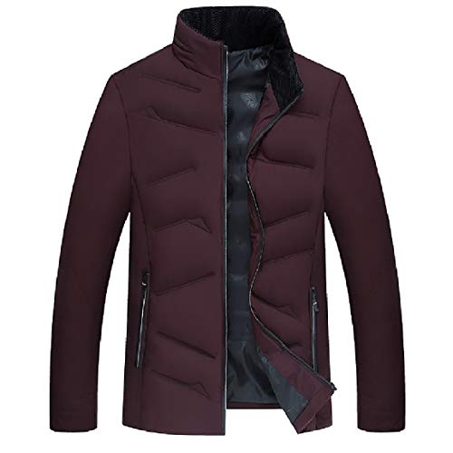 Full Rosso Tenere zip Vino Mogogomen Caldo Cappotto In Spessore Outwear Standard Lungo fit 6WfaavRq