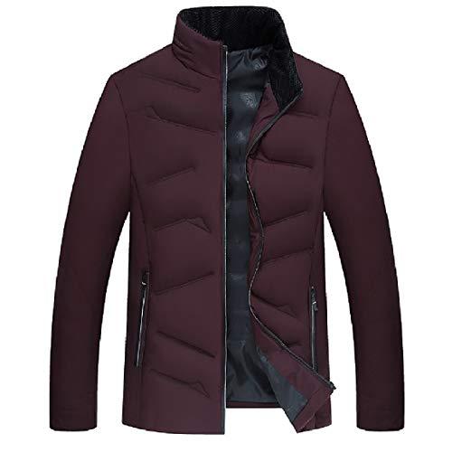 Outwear MogogoMen Wine Coat Warm Red Keep Winter fit Standard Thick Down Zip Full AqOdqS