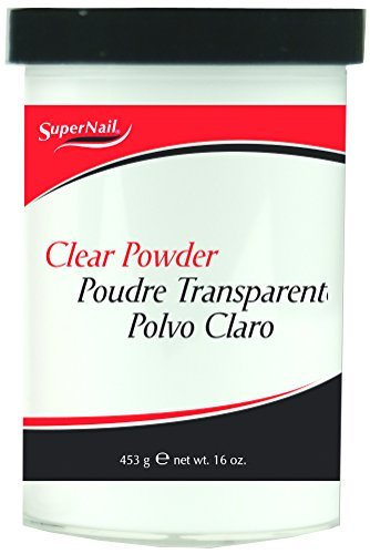 Supernail Nail Powder, Clear, 16 - Clear 16 Ounce Acrylic