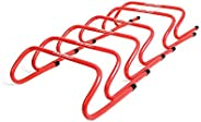HS Speed Hurdles Training Equipment for Soccer, Hockey and More Sports - 6 Pack