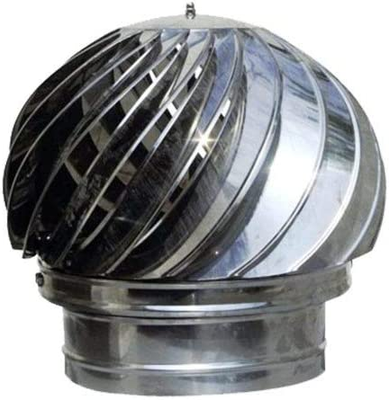 Material INOX Extractor de Humos Chimenea Giratoria para estufa 120mm Lluvia de sombrero Sombrero de chimenea