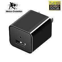 LeaningTech Hidden Cameras Charger Adapter,1080P HD USB Wall Charger Hidden Camera Nanny Spy Camera Adapter with 32G Internal Memory