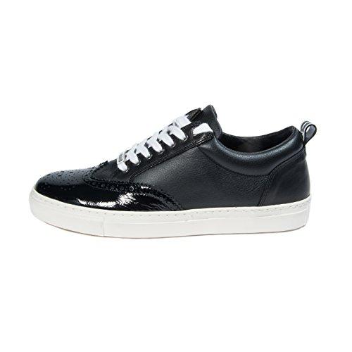Sneakers Da Uomo In Pelle Nera Moda Dsquared2 Gr. 45