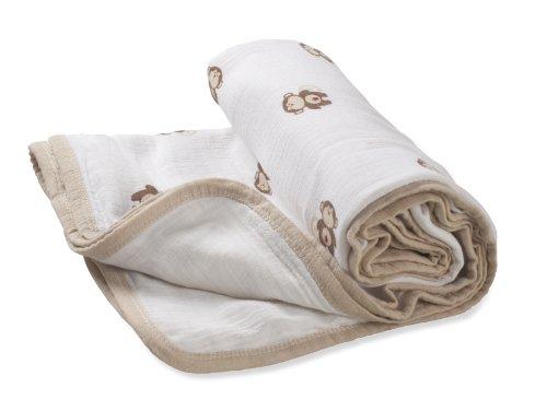 aden by aden + anais 100% Cotton Muslin Stroller Blanket - S