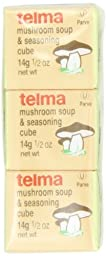 Telma Cubes Mushroom, Consomme Meat, 3 - 0.5-Ounce Cubes (Pack of 12)