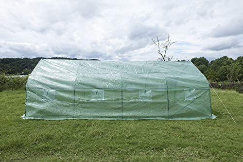 GOJOOASIS Walk-in Greenhouse 20'x10'x7' Outdoor Large Portable Green Garden House Plant Shed by GOJOOASIS (Image #4)
