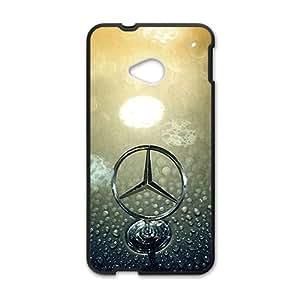 QQQO Mercedes Benz Hot sale Phone Case for HTC ONE M7 Black