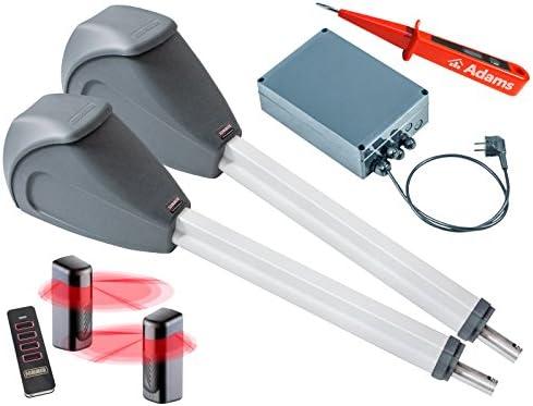 Verano Twist XL deriva Motores de puertas de 2 flüglig + 1 unidades de 4 Set emisor manual 4018 Pearl + Barreras de luz 7029 Juego 4 in1j