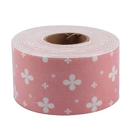 DealMux Cozinha Washroom a prova do molde padrão de flor cola vedante adesivo Faixa Seal 250