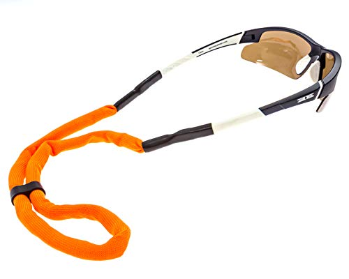 Luxe Performance Floaters - Premium Floating Adjustable Sunglasses Strap and Eye Wear Retainer (Orange)
