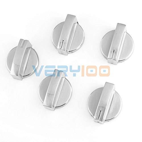 | Cookware Handles & Knobs | 5pcs Metal Gas Stove Oven Cooktop Range Burner Rotary Knob Handle Silver Tone! | by NAHASU