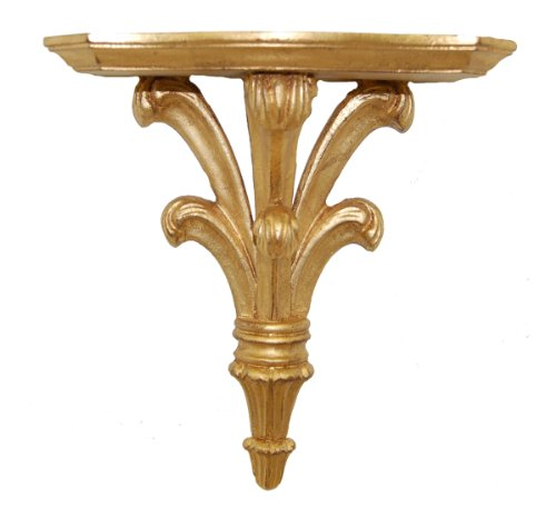 Hickory Manor House Prince William Bracket Decor with Gold Leaf