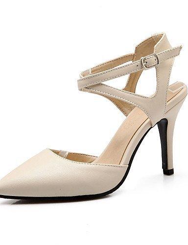 ShangYi Womens Shoes Stiletto Heel Heels / Slingback / Pointed Toe Sandals Dress Black / Beige Black