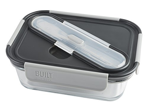 NY Compartment Container Stainless Utensils